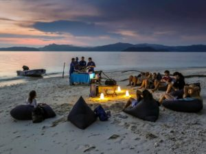 Widoczek - kolacja na plaży